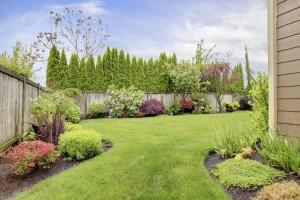 Zaun um Garten