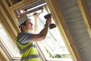 einbau schräges Dachfenster